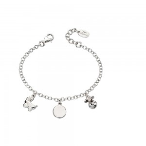 D for Diamond Silver Bracelet