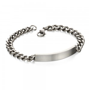 Fred Bennett Men's Stainless Steel ID Bracelet