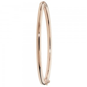 9ct Rose Gold Hinged Bangle