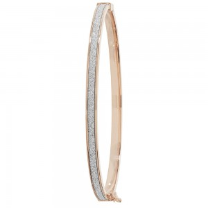9ct Rose Gold Sparkle Bangle