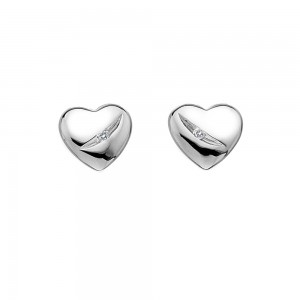 Hot Diamonds Shooting Star Heart Earrings
