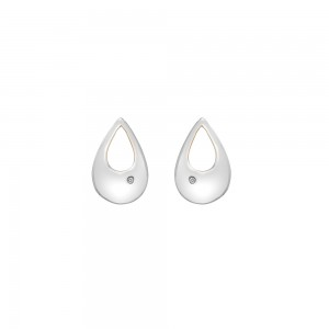 Hot Diamonds Journey Rose Plated Earrings