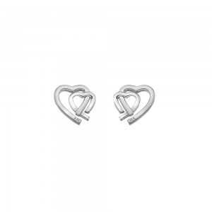 Hot Diamonds Amore Heart Studs