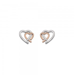Hot Diamonds Amore Heart Studs
