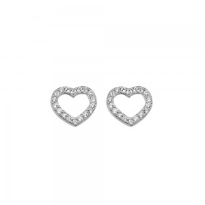 Hot Diamonds Bliss Open Heart Stud Earrings
