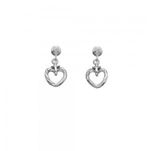 Hot Diamonds Sterling Silver Willow Open Heart Drop Studs