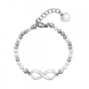 Hot Diamonds Infinity Pearl Bracelet