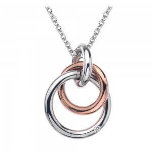 Hot Diamonds Eternity Rose Gold Plated Interlocking Pendant
