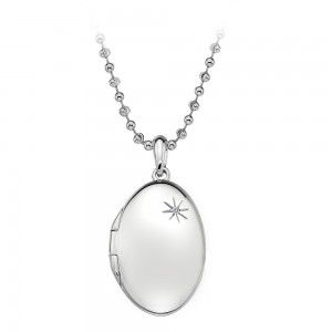 Hot Diamonds Memoirs Oval Locket Pendant