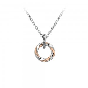 Hot Diamonds Breeze Pendant - Rose Gold Plated Accents