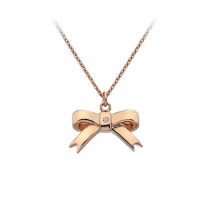 Hot Diamonds Rose Gold Plate Ribbon Pendant
