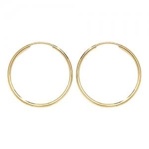 9ct Gold 18mm Sleeper Hoop Earrings
