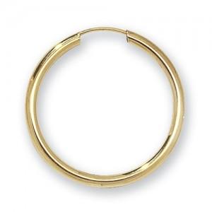 9ct Gold Earrings 22mm Sleeper Earrings