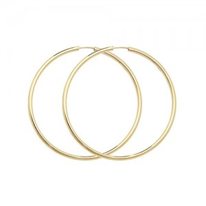 9ct Gold 27mm Sleeper Hoop Earrings