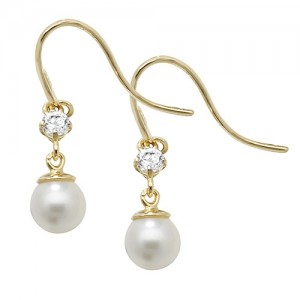 9ct Yellow Gold Pearl Drop Earrings