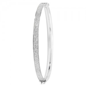 Sterling Silver Sparkle Bangle