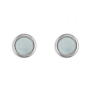 Sterling Silver Mother of Pearl Stud Earrings