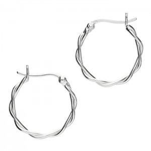 Sterling Silver 20mm Creole Hoop Earrings