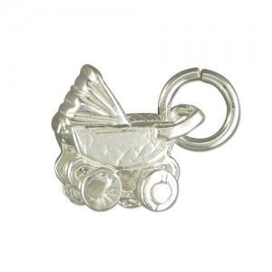 Sterling Silver Small Pram Charm