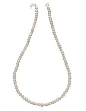 Sterling Silver Freshwater Pearl 42cm Necklace