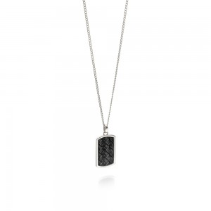 Fred Bennett Men's Stainless Steel & Leather Dog Tag Necklace