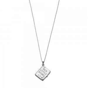 D for Diamond Silver 'Our Little Story' Locket