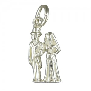 Sterling Silver Bride & Groom Charm