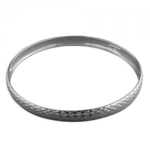 Sterling Silver Flecked Slave Bangle