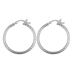 Sterling Silver 30mm Creole Hoop Earrings