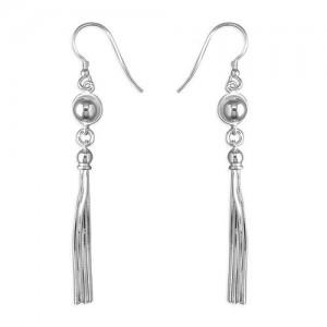 Sterling Silver Tassel Drop Earrings