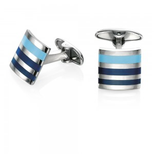 Fred Bennett Men's Stainless Steel Enamel Cufflinks