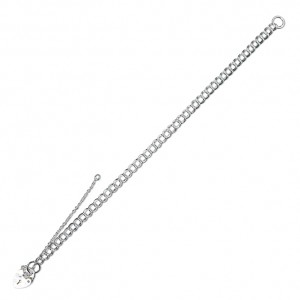 Sterling Silver Childs  Double Curb Charm Bracelet