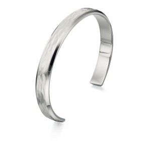 Fred Bennett Men's Stainless Steel Hammered Bangle