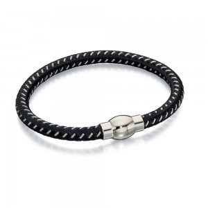 Fred Bennett Men's Stainless Steel Nylon Bracelet