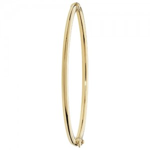 9ct Yellow Gold Hinged Bangle