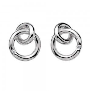 Hot Diamonds Eternity Interlocking Studs