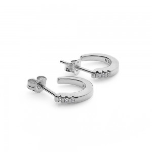Hot Diamonds Halo Crescent Earrings