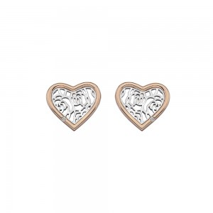 Hot Diamonds Faith Heart Studs