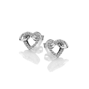 Hot Diamonds Sterling Silver Togetherness Open Heart Studs