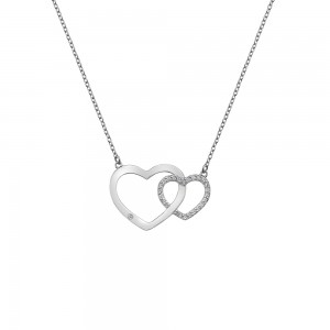 Hot Diamonds Bliss Interlocking Hearts Necklace