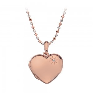 Hot Diamonds Memoirs Rose Gold Plated Heart Locket Pendant