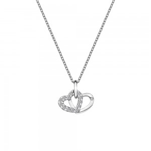 Hot Diamonds Sterling Silver Double Heart Pendant