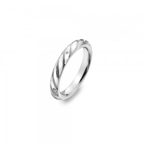 Hot Diamonds Sterling Silver Breeze Ring