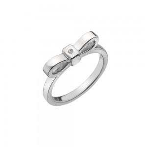Hot Diamonds Sterling Silver Ribbon Ring
