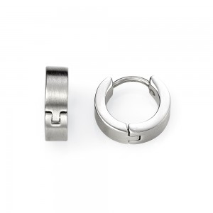 Fred Bennett Men's Stainless Steel Sleeper Earrings