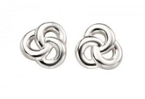 Sterling Silver Celtic Knot Stud Earrings