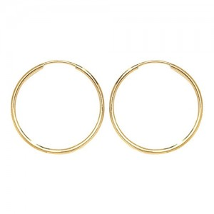 9ct Gold 18mm Sleeper Hoop Earrings