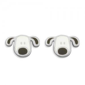 Sterling Silver Dog Earrings