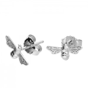 Sterling Silver Bumble Bee Stud Earrings