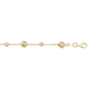 9ct Yellow Gold Multi Bead Bracelet